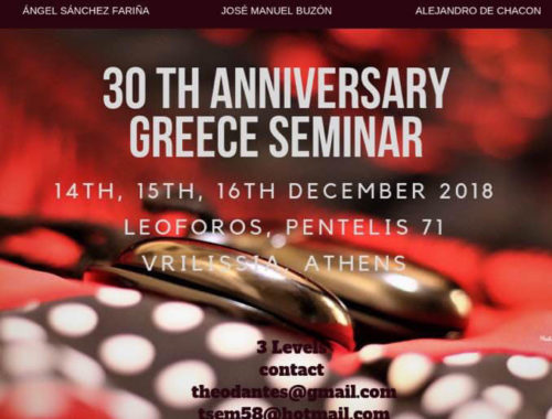 30th Anniversary Greece Seminar SDS